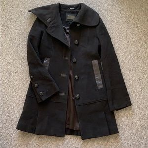Mackage STUNNING brown wool pea coat